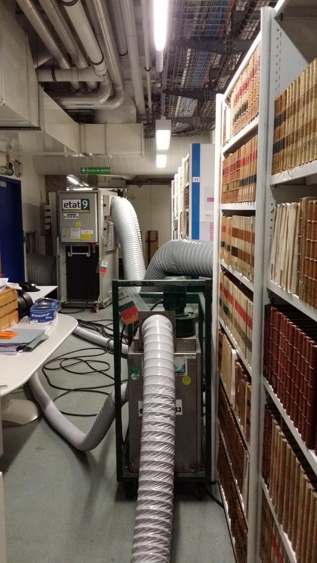Production d'air sec combinée à une gestion de la température